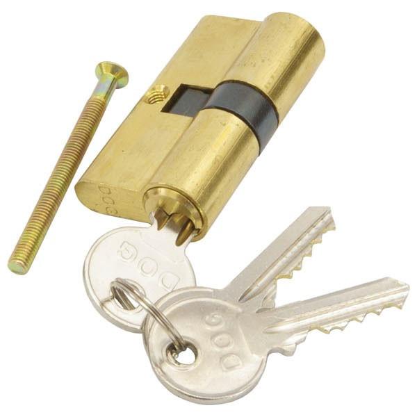 Hengerzárbetét, 30/30 mm, réz, 3 kulcsos, Flame