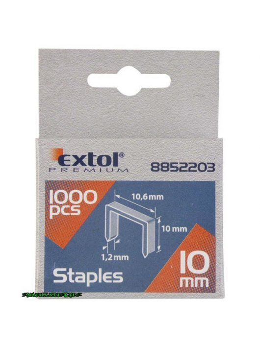 EXTOL tűzőgépkapocs profi (10,6×0,52×1,2mm) ; 8mm, 1000db 8852202